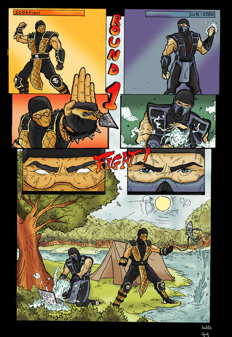 Mortal Kombat funny comic by GreenBBB