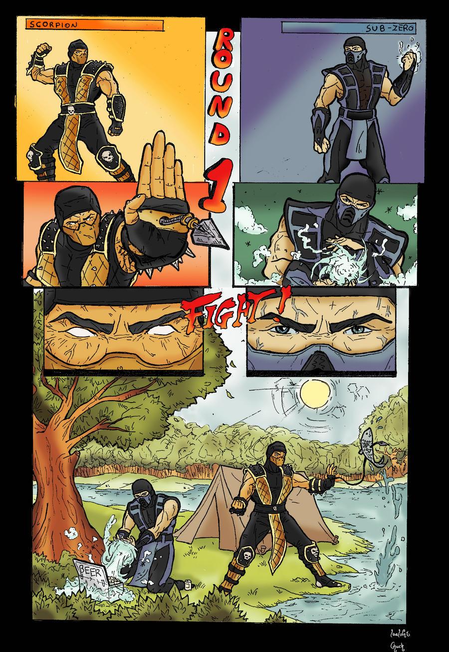 Mortal Kombat funny comic by GreenBBB
