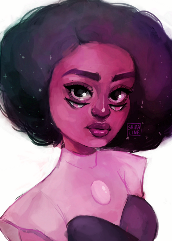 So I finally caught up with all the episodes of Steven Universe and I can't wait to see more! So here's another Off Colors member, this time Rhodonite, cause she's so pretty (tho Paddy is still my ...