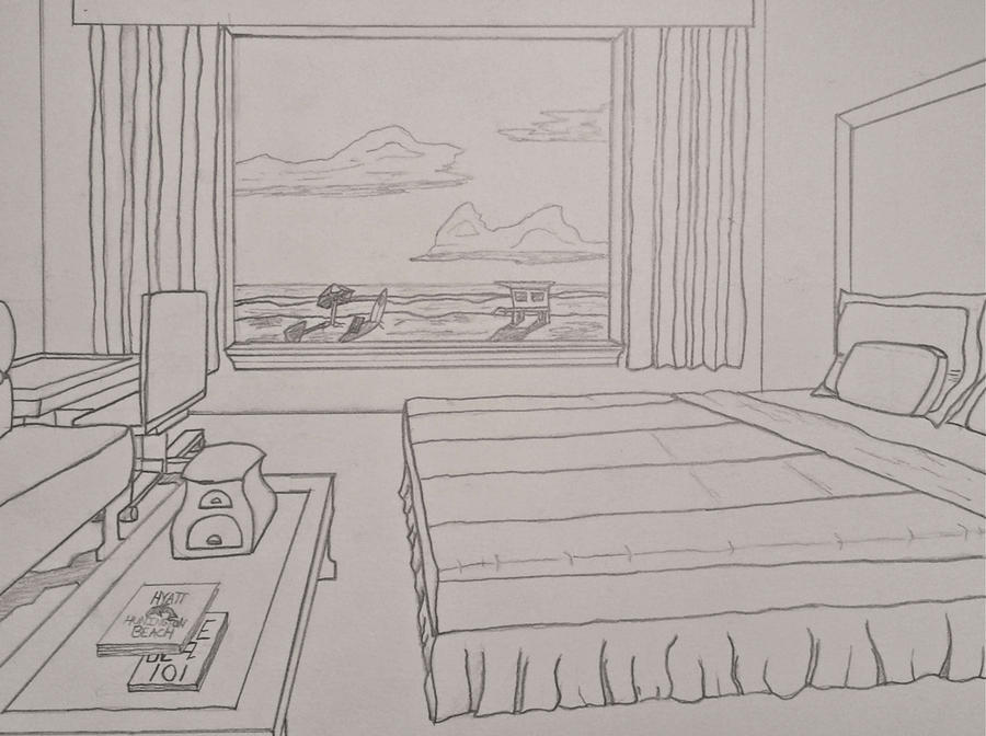 Interior Room Perspective by McEvanSandwich on DeviantArt  2 Point  Perspective Room Interior. One Point Perspective Bedroom Drawing