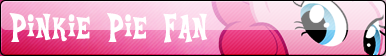 Pinkie Pie Fan Button by TehSpicePony
