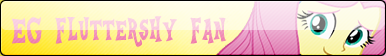 EG Fluttershy Fan Button by TehSpicePony
