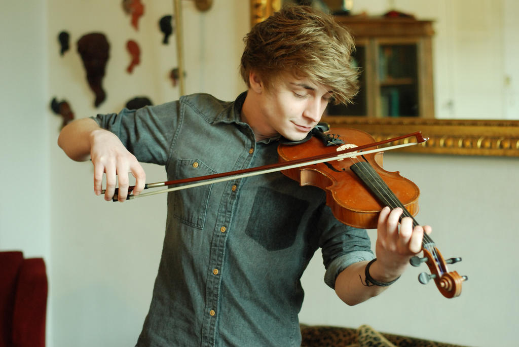 Male Violin Stock 3 by BirdsistersStock