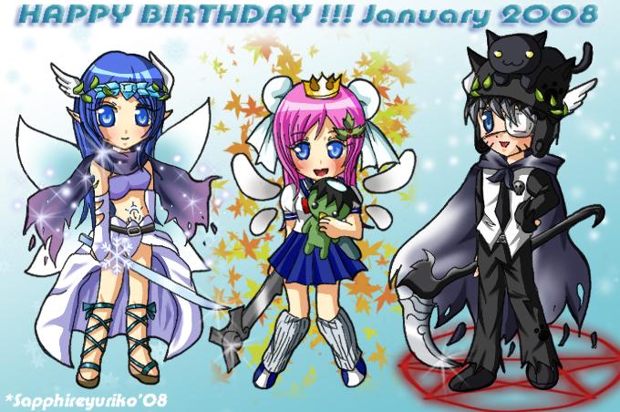 HAPPY BIRTHDAY January 2008 by sapphireyuriko