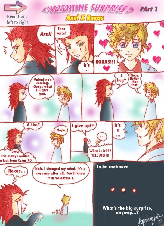 AkuRoku's Valentine_Part 1 by sapphireyuriko