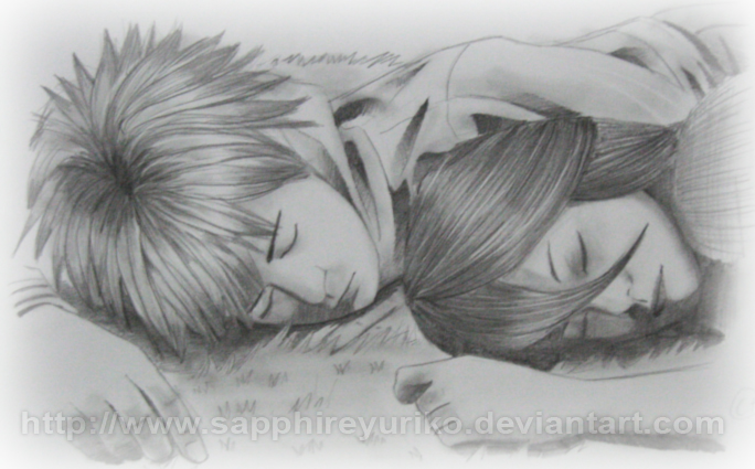 Ichigo and Rukia by sapphireyuriko