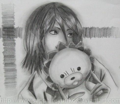 Rukia Sketch by sapphireyuriko