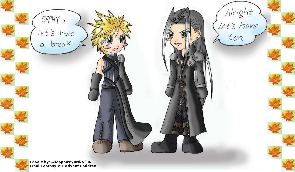 Cloud and Sephy: Requested by sapphireyuriko