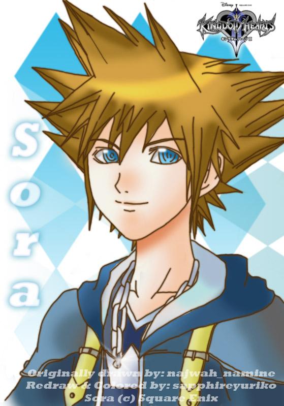 Sora- Kingdom Hearts II by sapphireyuriko