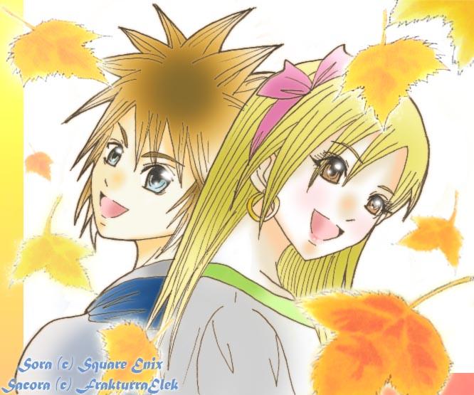 Sora and Sacora by sapphireyuriko