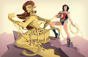 Cheetah Vs WW by Diego Grosso by ArteX79