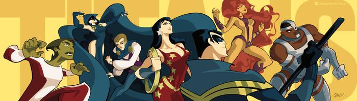 Teen Titans by DIEGO GROSSO by ArteX79