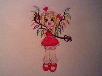Touhou Koubutou: Flandre Scarlet by AuroraArtz