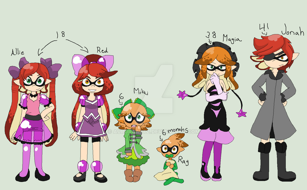 splatoon inkowoski family by auroraartz on deviantart