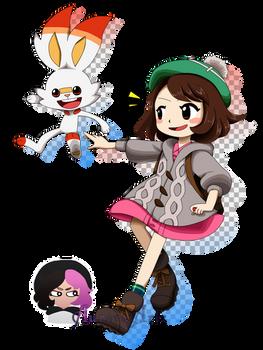 Doodle - Gloria and Scorbunny