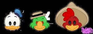 The Three Caballeros (Emoji Blitz)