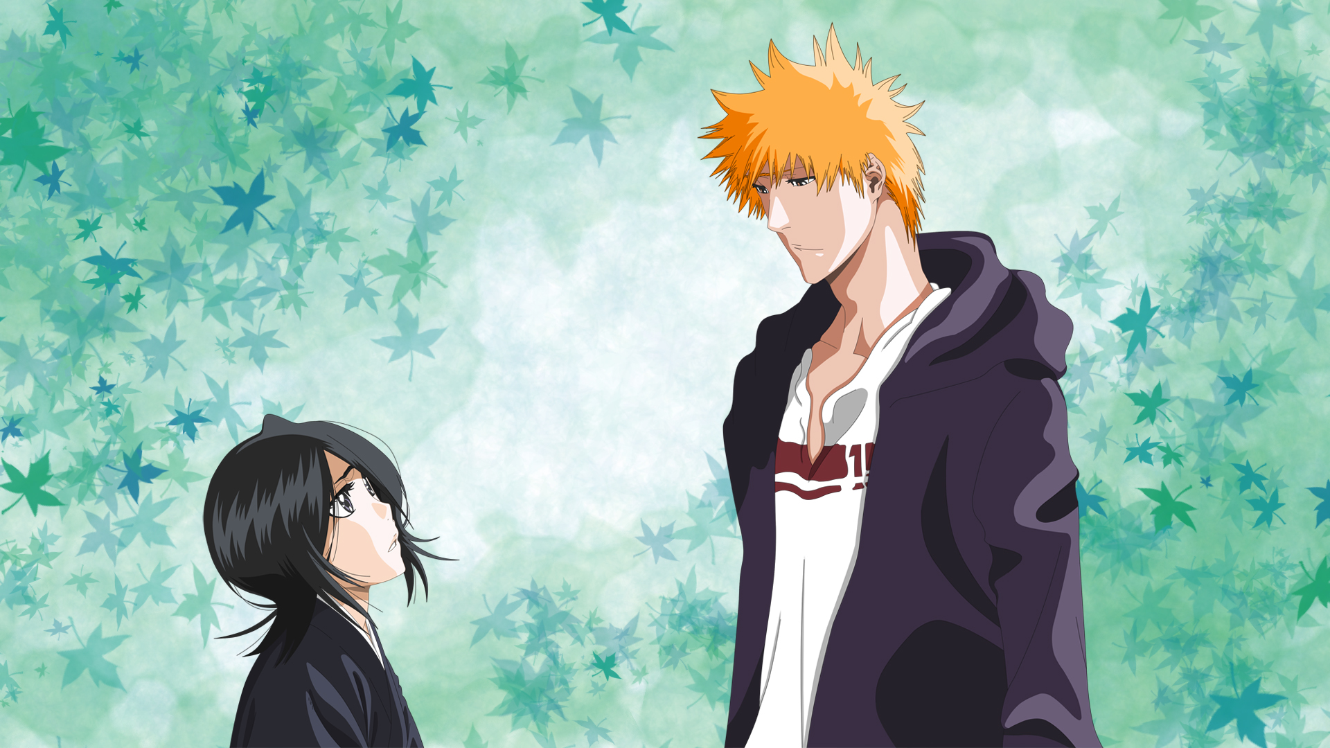 bleach rukia and ichigo wallpaper by giamini on deviantart
