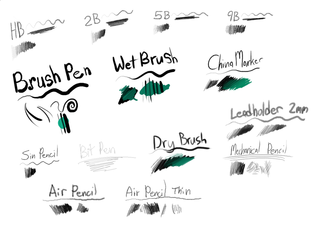 Brushes For Sai Favourites By Frnkieiero Deviantart – Migliori
