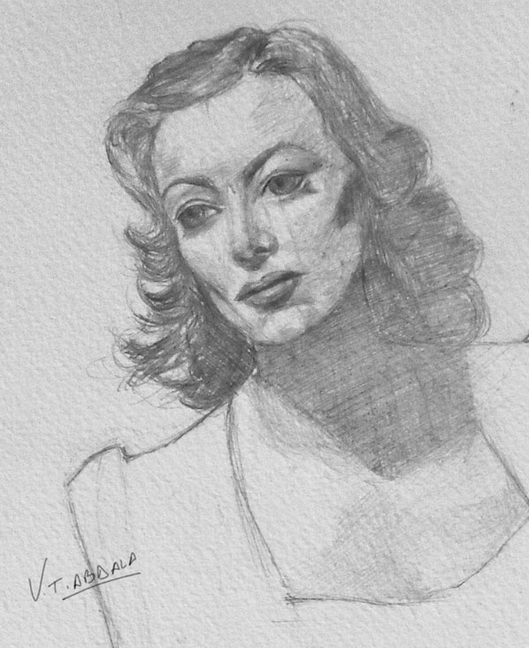 Joan Crawford sketch - Joan Crawford, boceto by VTAbdala