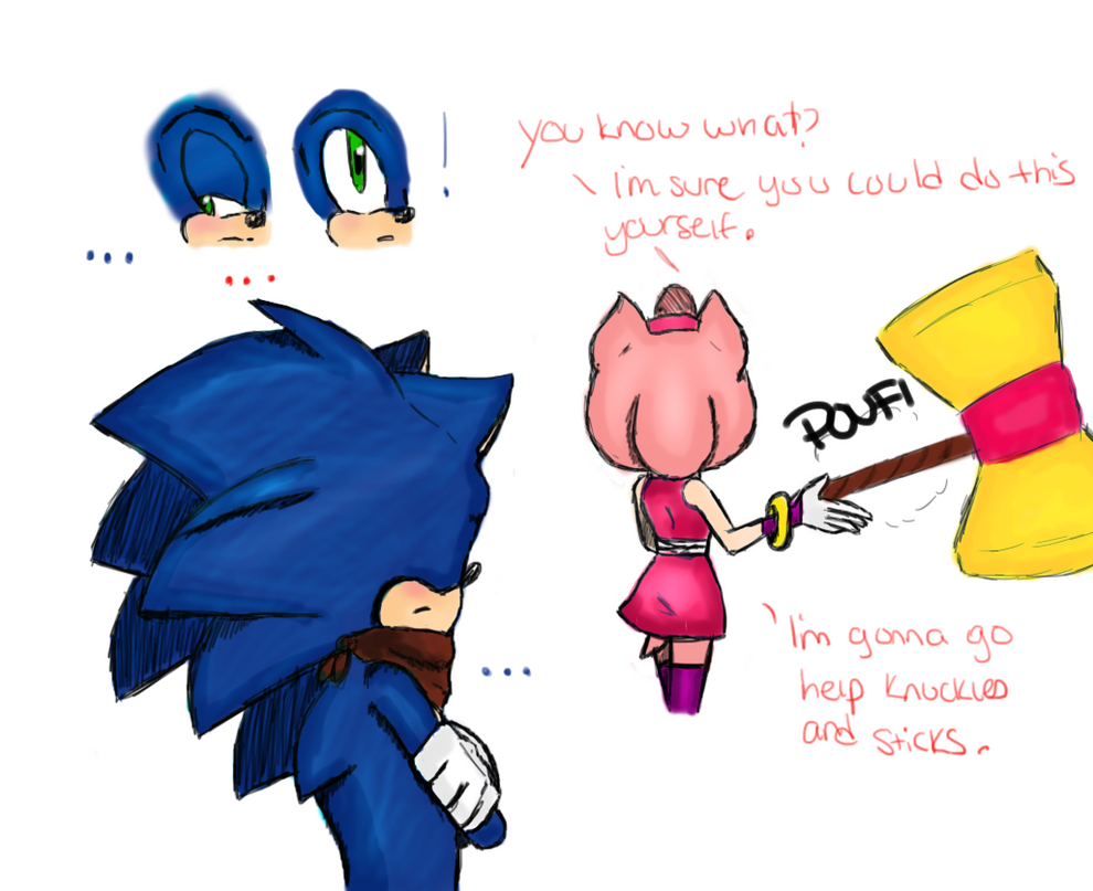 REDRAW Sonamy moment? Part 3 by batmanisawesome666