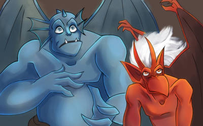 Gargoyles Screencap Redraw #3 by TheSylverLining