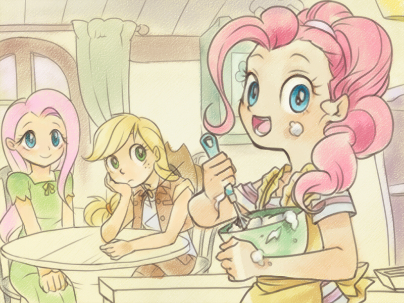 MLP:FiM Pinkie Making Cupcakes by dawkinsia