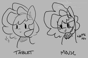 Tablet vs Mouse by christunacake