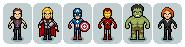 Mini Pixel Avengers by Segesi