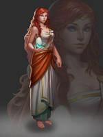 The guide girl by ZhangQipeng