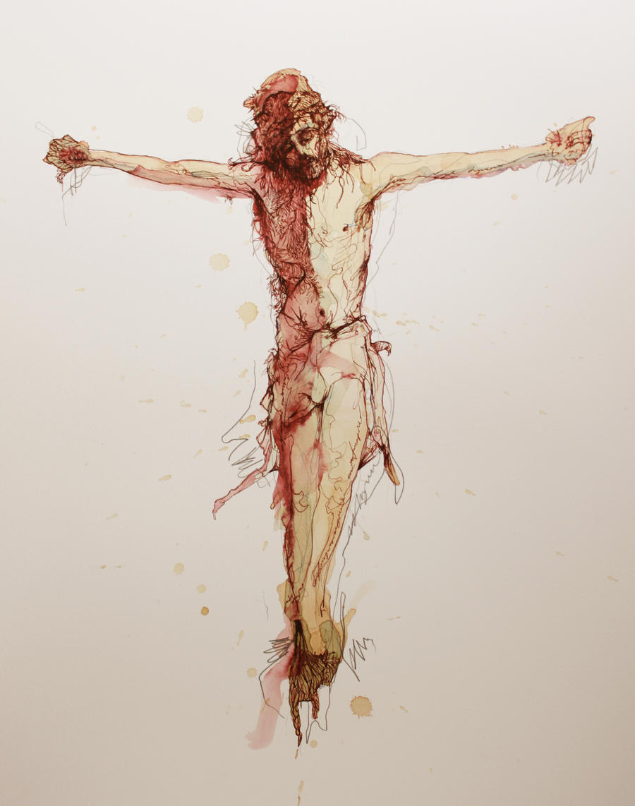 christ crucified by carnegriff on deviantart