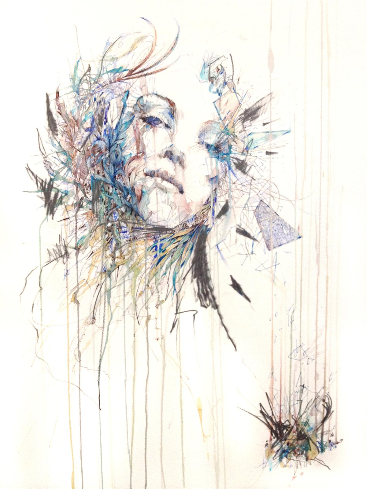 Fragment - Ink and Tea on paper by Carnegriff