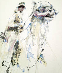 Luke and Tauntaun - ink and brandy