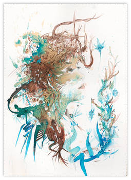 Reverie - painted in ink and tea