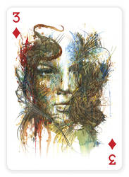 3 of Diamonds by Carnegriff