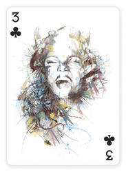 3 of Clubs by Carnegriff