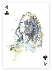 4 of Clubs by Carnegriff
