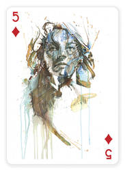 5 of Diamonds by Carnegriff