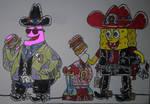 Patrick SpongeBob and Gary western 2020 by xlob2