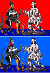 2021 Wonder woman and black starros2 by xlob2