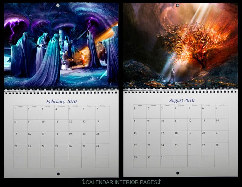Deviantart Calendar interiors by alexiuss