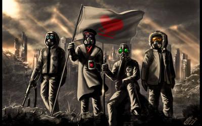 The RA gang by Jadeitor