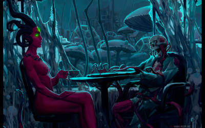 Polite conversations with the dead by alexiuss