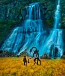 Waterfalls valley