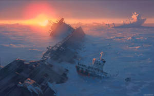 Frozen sea by alexiuss