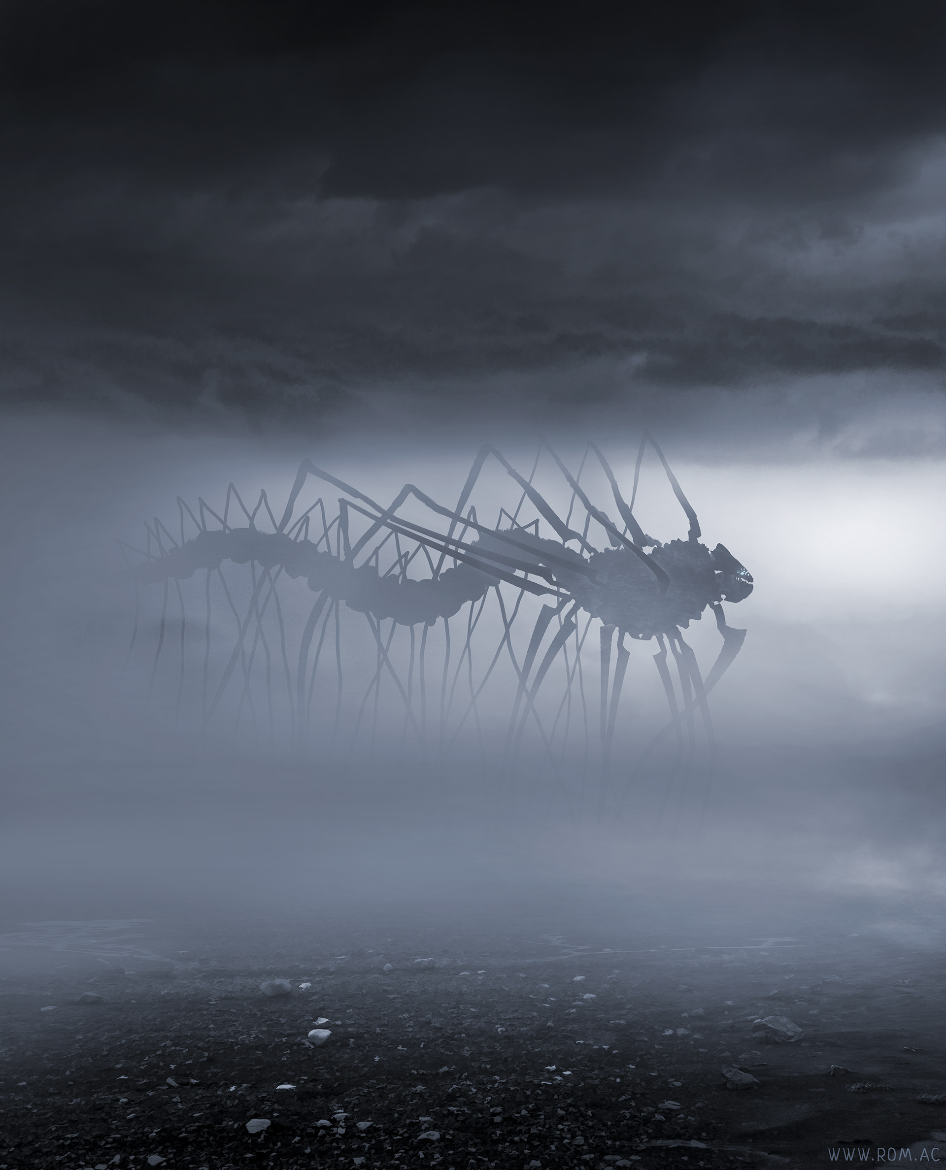 Something creeping in the fog by alexiuss