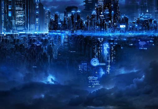 Cyberpunk town