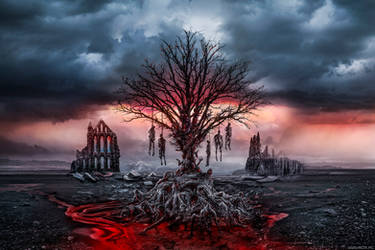 Death tree [CD COVER ART] by alexiuss