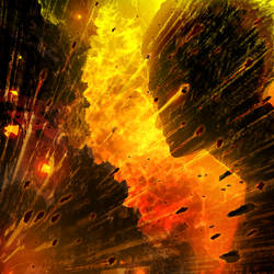 Face-off [explosion art test] by alexiuss