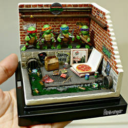 Mini TMNT Sewer Diorama
