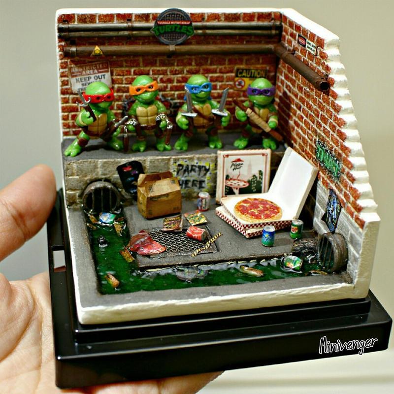 Mini TMNT Sewer Diorama By Minivenger On DeviantArt